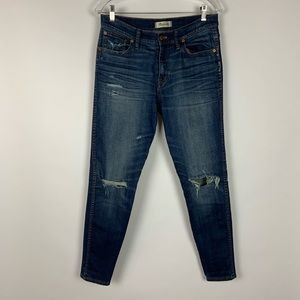 Madewell Skinny Distressed High Rise Jeans